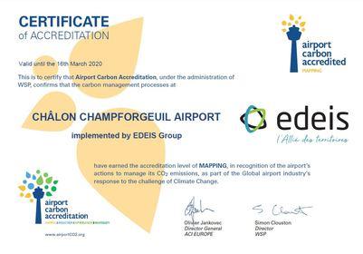 L'aéroport de Chalon reçoit l'accréditation carbone